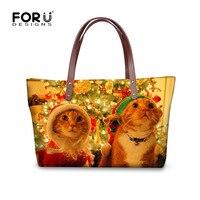 FORUDESIGNS Shoulder Bags Xmas Gifts Women Handbag Female Top Handle Bags Girls Crossbody Bag Functional Tote