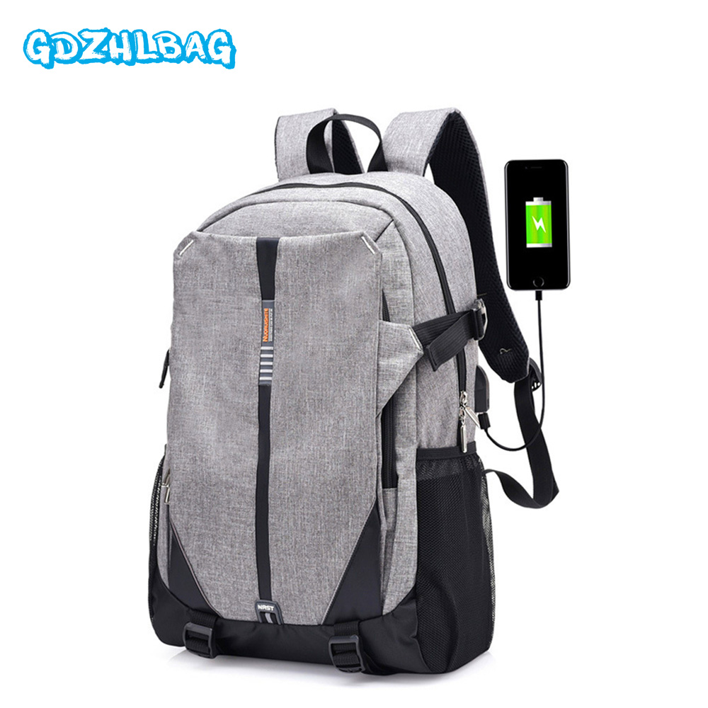 Best buy Teen Canvas Men Backpack 2017 High School Bags for Teenage Book Bag  Boys girls USB Schoolbag Male Back pack Laptop Women B188 online cheap 6309777e55296