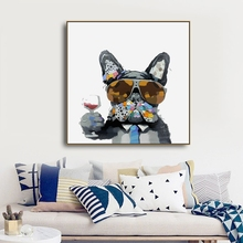 Watercolor Dog Animals Canvas Painting Wall art Picture for Living Room Bedroom Art Poster Decoration Morden Print