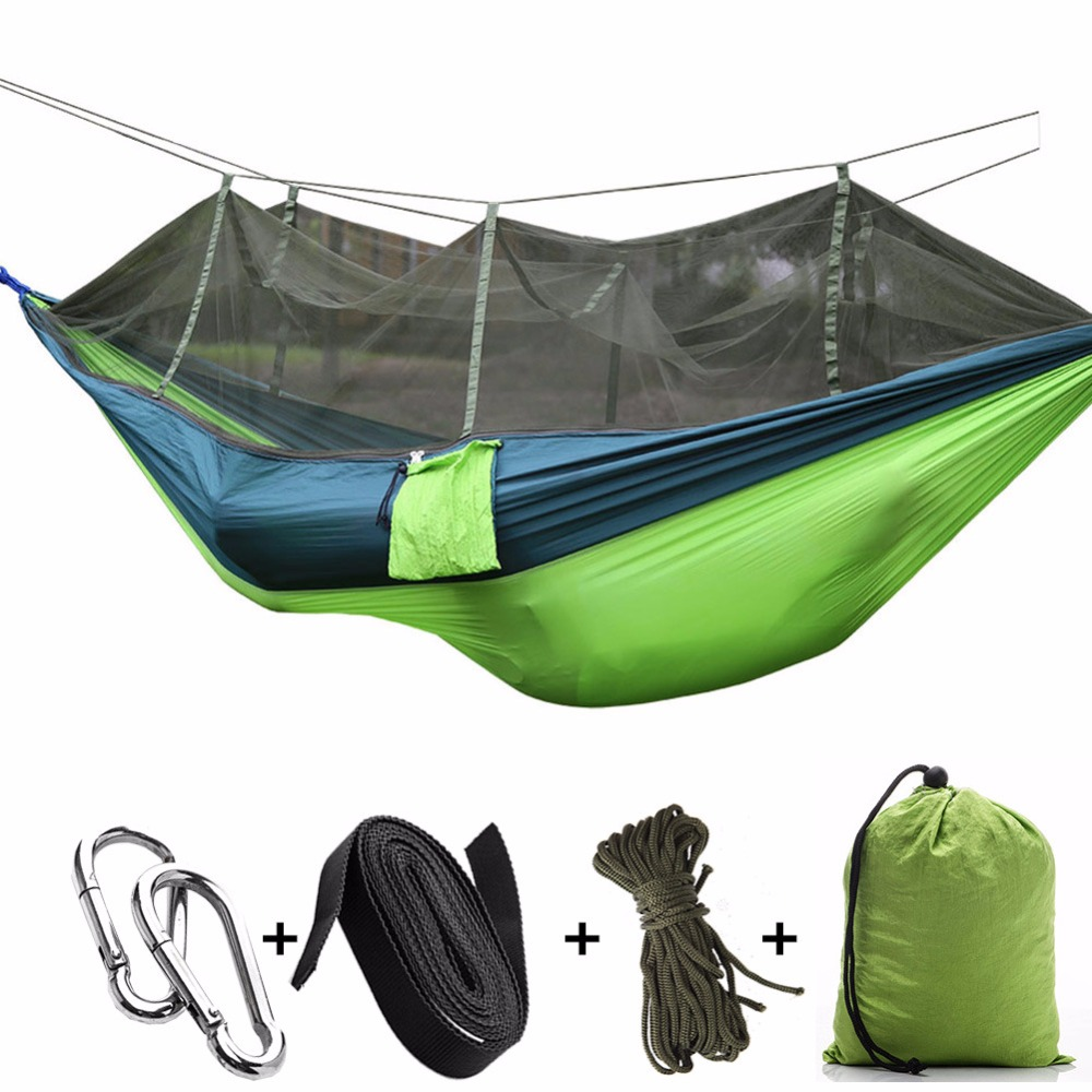 Baby Bedding Portable High Strength Parachute Fabric Camping Hammock Hanging Bed With Mosquito Net Sleeping Hammock