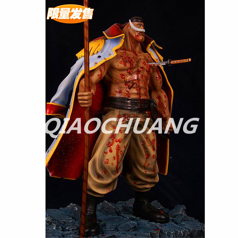 One Piece Statue Four Emperors Whitebeard Bust 1:6 Edward Newgate Seismic shock frui Full-Length Portrait GK War Damage Version god of war statue kratos ye bust kratos war cyclops scene avatar bloody scenes of melee full length portrait model toy wu843