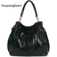 Sıcak satış! 2017 yeni moda kompozit deri çanta/yüksek kaliteli marka tasarım yılan derisi omuz çantası/kadın postacı çantası F0-A04