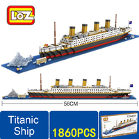 Fun Titanic Ship 3D Building Blocks Brick Toys Titanic Boat 3D Model Educational Gift Toys For