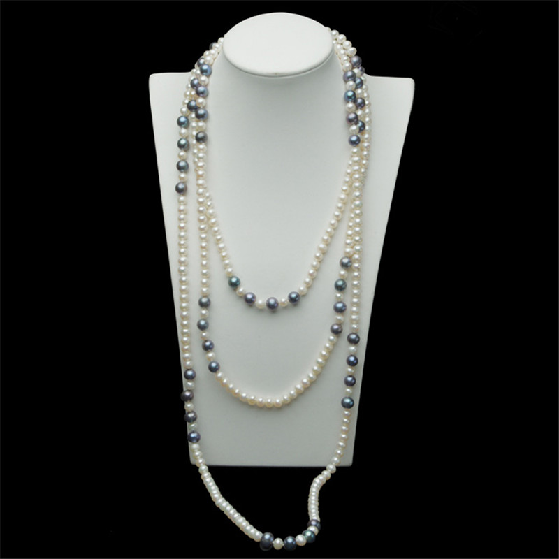 Fashion Long Multilayer Pearl Necklace Freshwater Pearl Shell Necklaces Women Accessories Statement