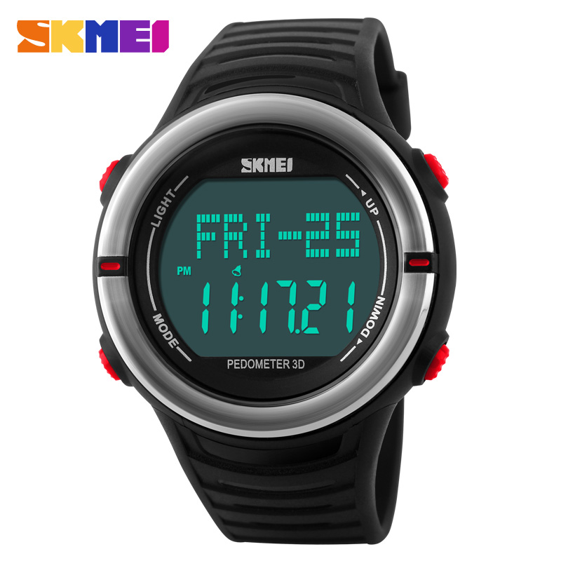 Heart Rate Monitor Sport Watch Men Digital LED SKMEI Brand Alarm Chronograph Waterproof Back Light Stop
