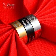 UZone, модные ювелирные изделия, летучая мышь, кольца, супер герой, Бэтмен, фильм, обручальные кольца, 8 мм, титановая сталь, кольца для мужчин, подарок для отца