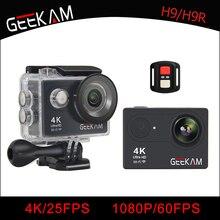 GEEKAM action camera H9/H9r Original ultra deportiva cameras go waterproof HD 4K WiFi 1080P 60fps pro outdoor 170D sport camera