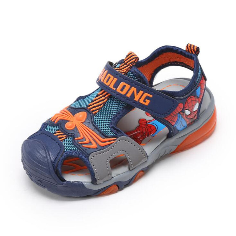 3979430e580545 Boys Sandals 2018 New Summer Spring Spider Man Shoes Child Beach Sandals  Kids Sport Brand Light Boys Shoes Size 26 36-in Sandals from Mother   Kids  on ...