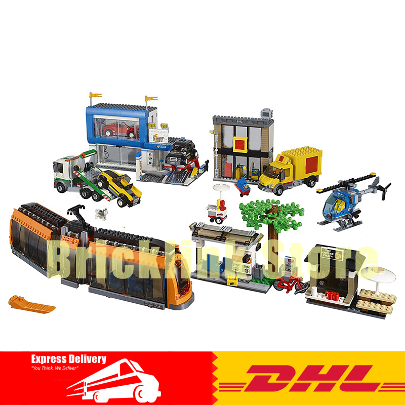 Lepin 02038 1767pcs City Series The City Square Building Block Brick Toy a toy a dream lepin 24027 city series 3 in 1 building series american style house villa building blocks 4956 brick toys