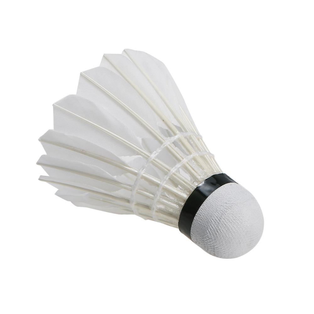 Weitere Ballsportarten 5Pcs Game Sport Training White Duck Feather Shuttlecocks Birdies Badminton FL Badminton