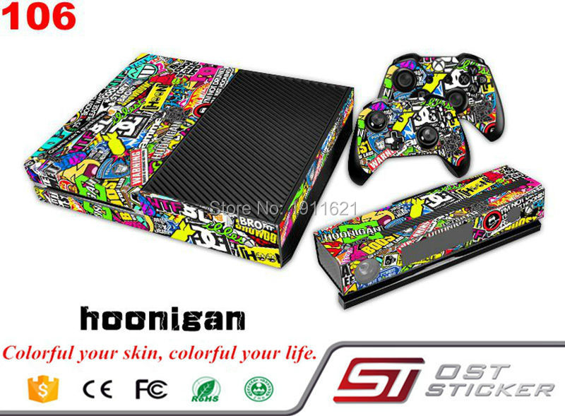 OSTSTICKER New Full Cover Vinyl Decal Skin Sticker stickerbome For Xbox ONE Console