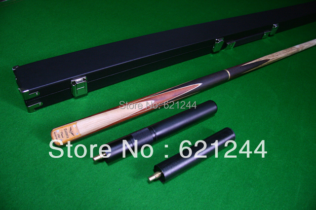 3/4 Custom Hand Made Maple Splice Snooker Pool Cue With Free Cue Case and Extension