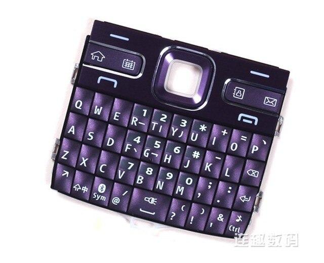 f0ee0279864 Color púrpura nuevo la función principal Teclados teclados Botones cubierta  para Nokia E72, envío libre