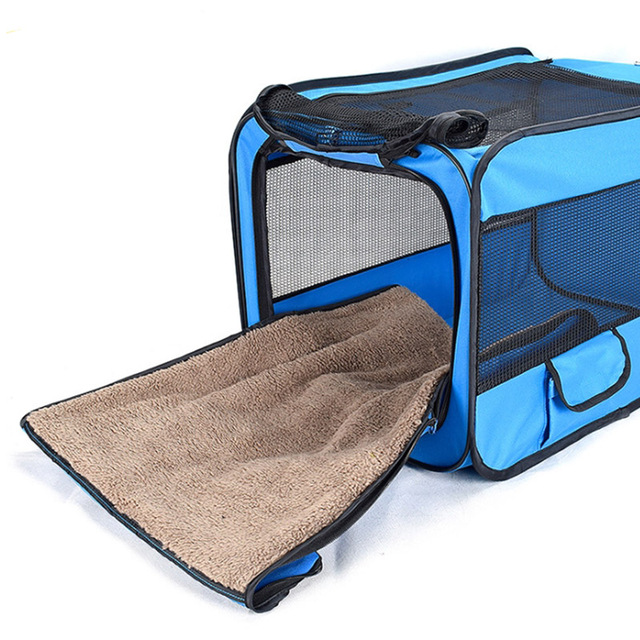Foldable Pet Carrier Tent With Mat 4