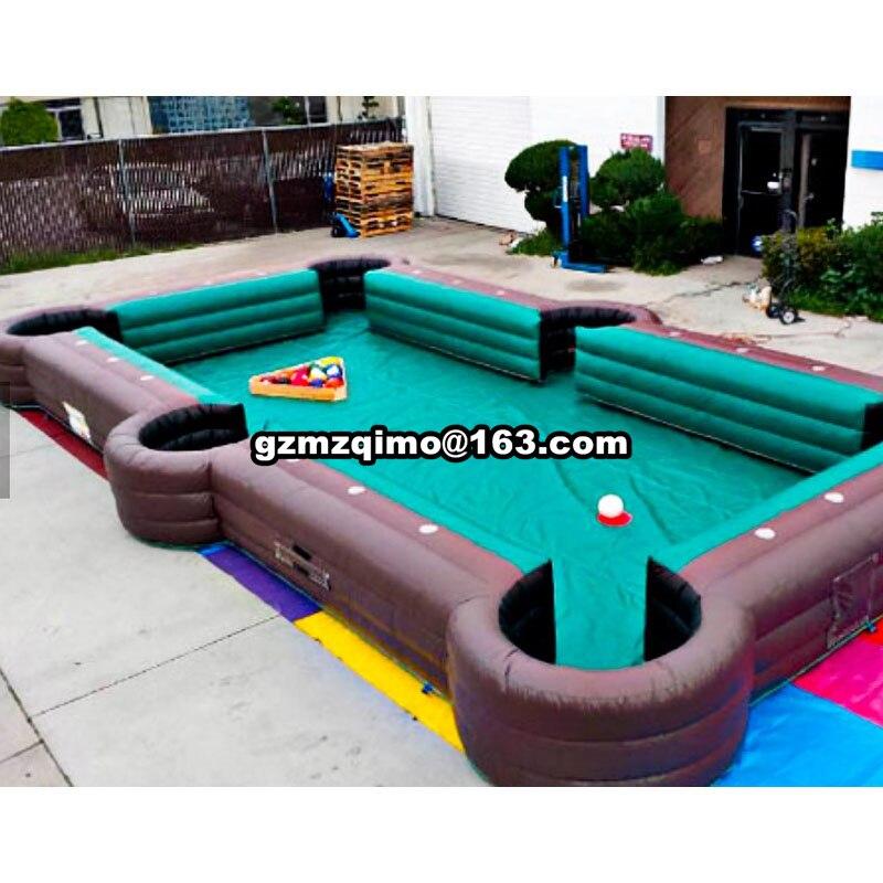 10x5x0.5 m gonflable de billard domaine/livraison air gratuite cour de billard billard piscine à balles à vendre avec 16 pcs livraison boules de billard