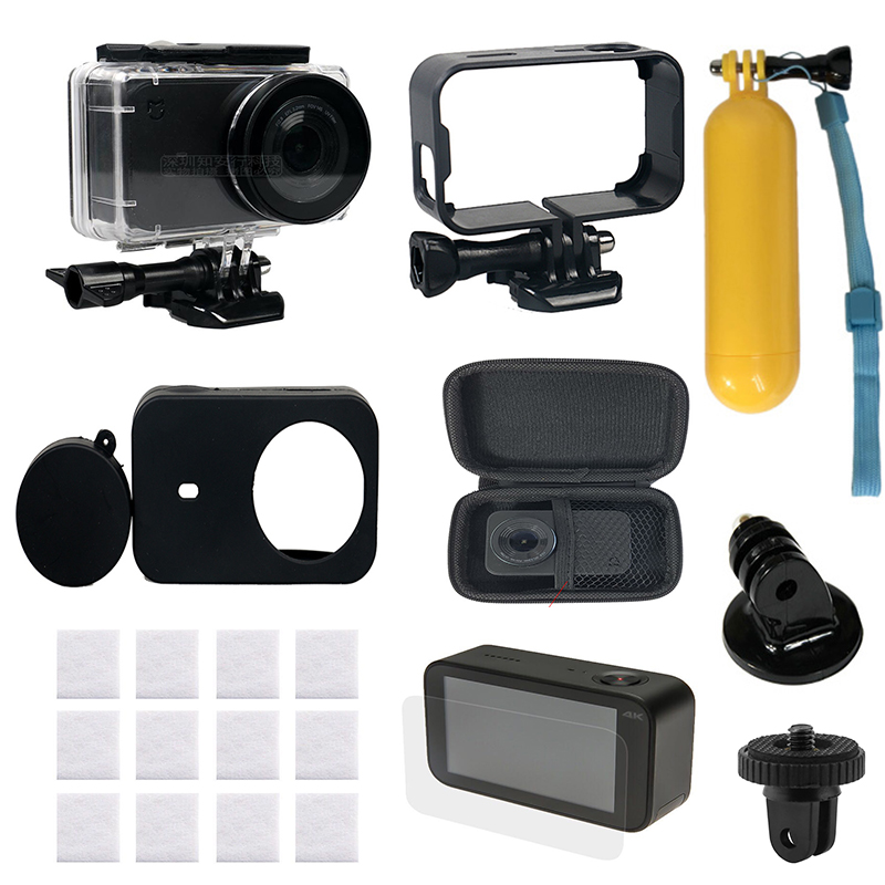 Mijia Cam 9 in 1 Action Camera Accessories Set For Mijia 45m Waterproof Case Camera Mount Frame for xiaomi Mijia Mini 4K CamMijia Cam 9 in 1 Action Camera Accessories Set For Mijia 45m Waterproof Case Camera Mount Frame for xiaomi Mijia Mini 4K Cam