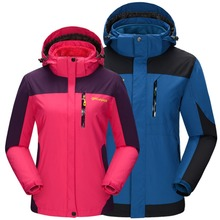 Winter Outdoor 3 in 1 Windproof waterproof Jacket climbing Camping Hiking fishing Plush Liner