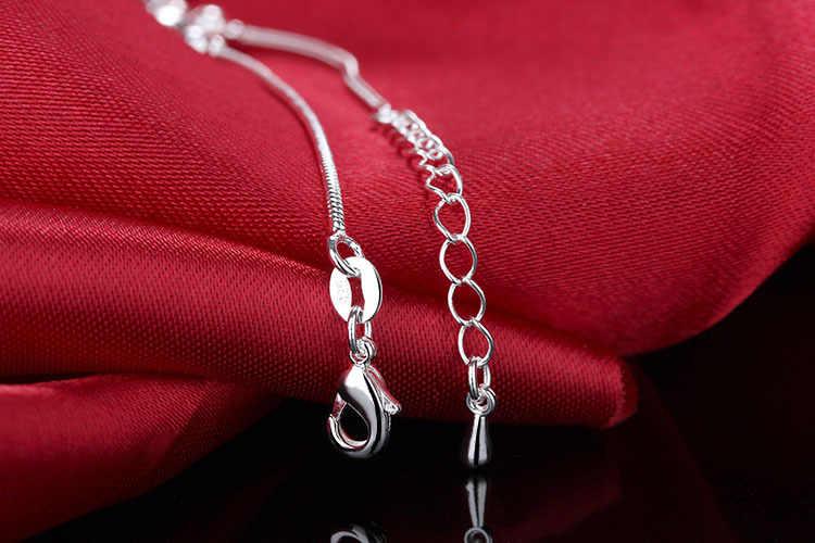 Nowy 925 Sterling Silver bransoletka na kostkę placu krzyż kwiat Bell kobiety lato urok łańcuch sandały plaża stóp łańcuszek na kostkę prezent sl278