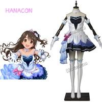 The Idolmaster Cinderella Girls Cosplay Costume Shimamura Uzuki Stage Cotume Cosplay Girl Dresses Outfit Halloween Customized