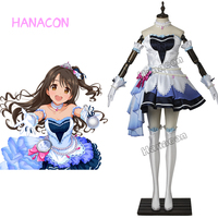 The Idolmaster Cinderella Girls Cosplay Costume Shimamura Uzuki Stage Cotume Cosplay Girl Dresses Outfit Halloween Customized