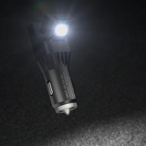 Image 5 - Nitecore vcl10 משולבת All in one רכב גאדג ט תמיכה QC 3.0 רכב מטען/זכוכית מפסק/חירום אזהרת אור