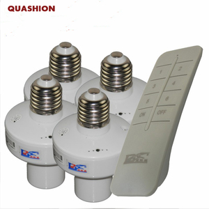Image 1 - 1/2/3/4 * E27 Kablosuz Uzaktan Kumanda Işık Lambası taban oN/off Anahtarı Soketi tutucu rc akıllı cihaz 110V 220V