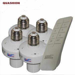 Image 1 - 1/2/3/4 * E27 ワイヤレスリモート制御光ランプベース/オフスイッチソケットホルダー rc スマートデバイス 110V 220V
