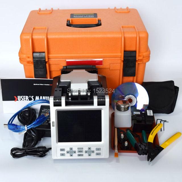 SM & MM Automático FTTH Fibra Óptica Emenda Máquina Splicer Fusão de Fibra Óptica