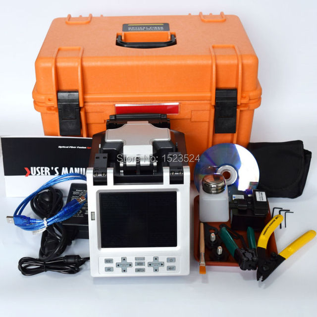 SM y MM Automática FTTH Fibra Óptica Máquina de Empalme De Fusión De Fibra Óptica Splicer
