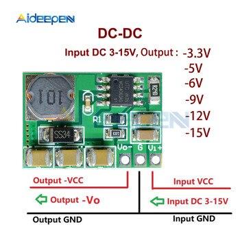 3-15V negatif 3.3 V-5 V-6 V-9 V-12 v-15 V Buck-boost dönüştürücü negatif voltaj modülü ADC DAC LCD güç kaynağı