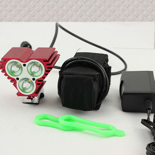 6000 lm 3x CREE T6 Camping lamp LED Front Bike Bicycle Light Headlight Light + 6400MAH Battery Pack+Charger hot sale 3x cree xml t6 led headlamp bike light 5000 lumen 18650 led head light 4x18650 battery pack charger bike rear light