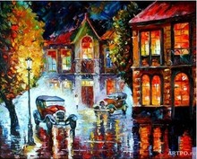DIY Digital street Painting acrylic Painting Home Wall Decor Coloring By Number Hand Painted Canvas oil Painting AOP039
