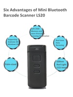 Pocket Wireless Bluetooth Mini Barcode Scanner Android Bar Sode Reader Support Ios Windows Android OS LS20