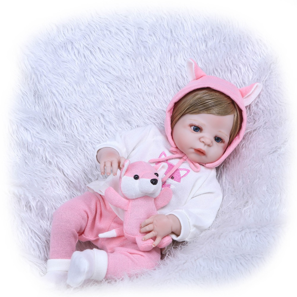 NPKCOLLECTION 22 Full Silicone Vinyl Reborn Girl Bebe Dolls Soft Realistic Newborn Baby Doll Alive Fashion Toys Girl Baby Gift цена