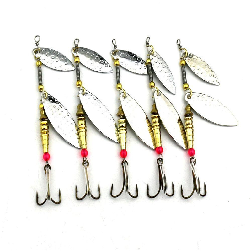Hot Sale Noise Sequins False Bait Copper Fishing Lures Rotary Bait  Spoon Bait Fishing Tackle