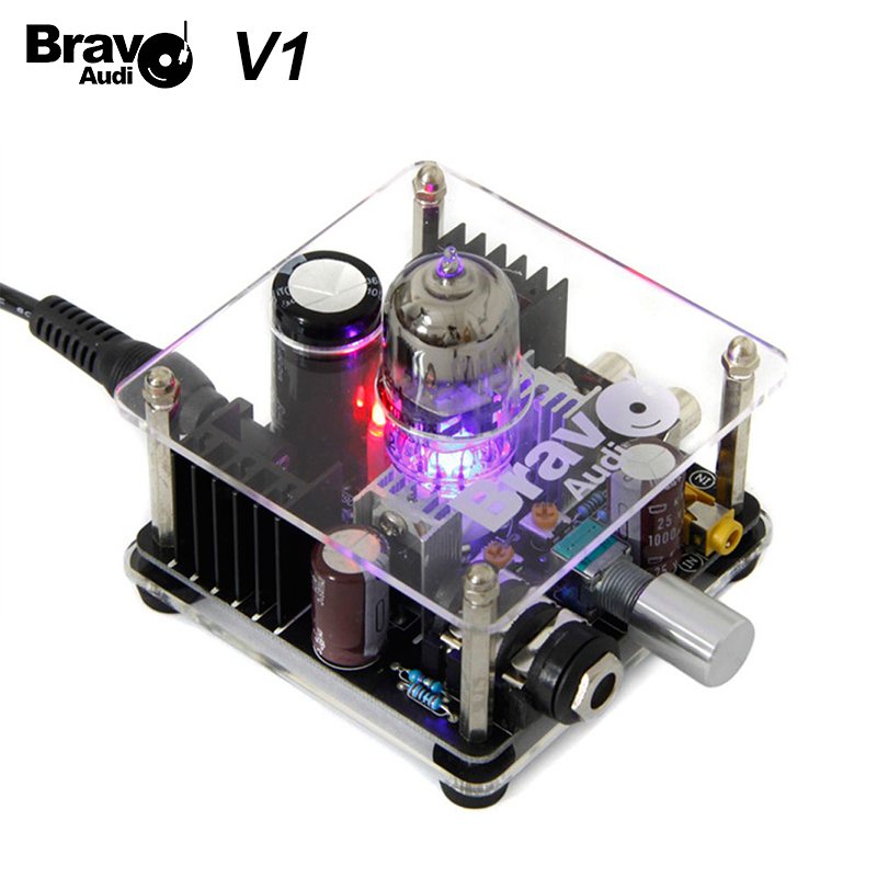 Bravo Audio V1 Valve Class A Russian EH 6922 Tube Headphone Amplifier preamp AudioBravo Audio V1 Valve Class A Russian EH 6922 Tube Headphone Amplifier preamp Audio
