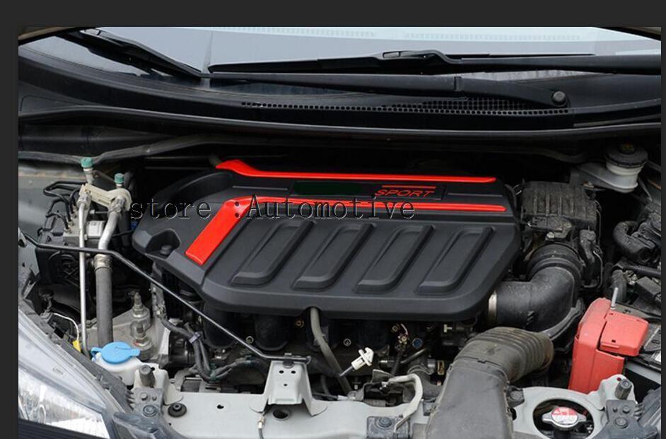 2014 2015 2016 2017 pour Honda Jazz moteur cache-poussière 1.5L cité couverture décorative capot couverture décoration (couvercle supérieur) gauche lecteur