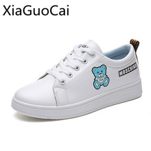 Cute Fashion Bear Style Women Flat Shoes Low Top Spring and