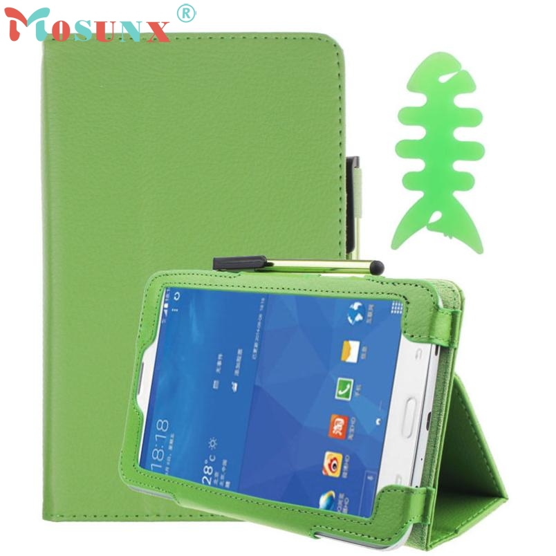 Wholesale PU Leather Case Stand Cover For Samsung Galaxy Tab 3 7Inch Tablet SM-T110+Film Pen Reel U0314 15 pu leather case cover for samsung galaxy tab 3 10 1 p5200 p5210 p5220 tablet