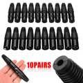 10 pairs/20 قطعة XLR 3-Pin ذكر موصل سالب ميكروفون كابلات الصوت سدادة للموصلات الأسود