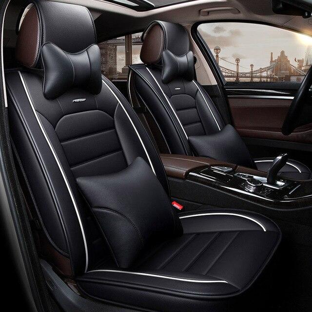 Leather Universal Car Seat Cover Auto Seats Covers For Subaru Impreza XV WRX STI Forester SG