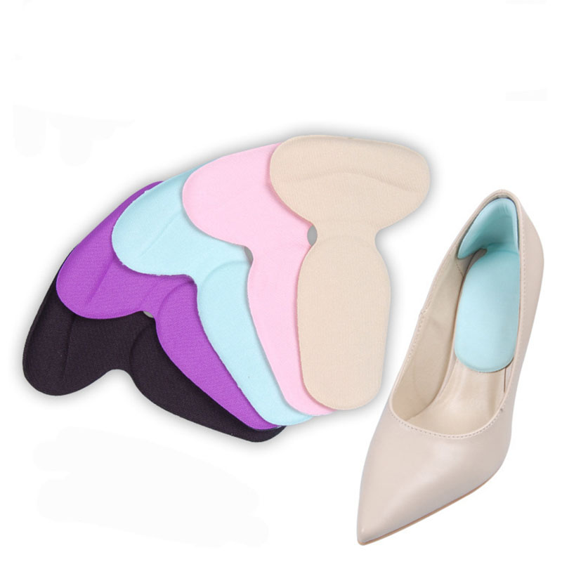 2 Pair Foot Care Heels Gel pad scholls Insoles tools anti-friction heel gel pad slim patch orthopedic shoes for Women