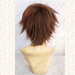 Image 4 - Guilty Crown OUMA SHU Short Brown Mix Fluffy Layered Synthetic Hair Cosplay Anime Wigs + Free Wig Cap