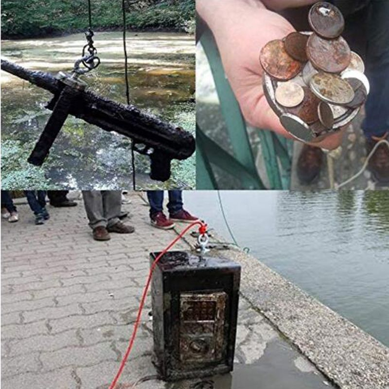 25mm Neodymium Magnet Strong Search Magnet Metal Detector Strong Salvage Magnet Pot Treasure Hunting Fishing Underwater