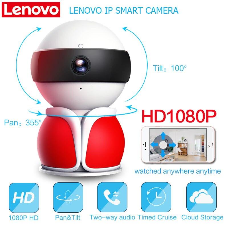 Lenovo Wi-Fi 360 панорама СМАРТС IP Камера видеонаблюдения Беспроводной Ultra-Clear 1080 P видео Камеры скрытого видеонаблюдения