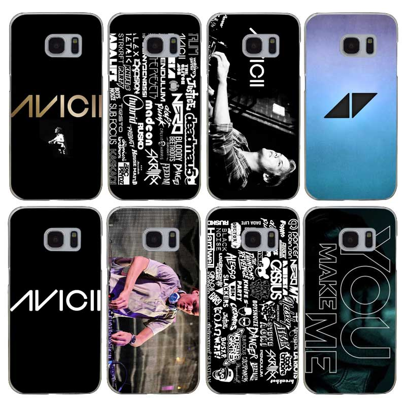 H034 Avicii Dj Transparent Hard PC Case Cover For Samsung Galaxy S 3 4 5 6 7 8 Mini Edge Plus Note 3 4 5 8