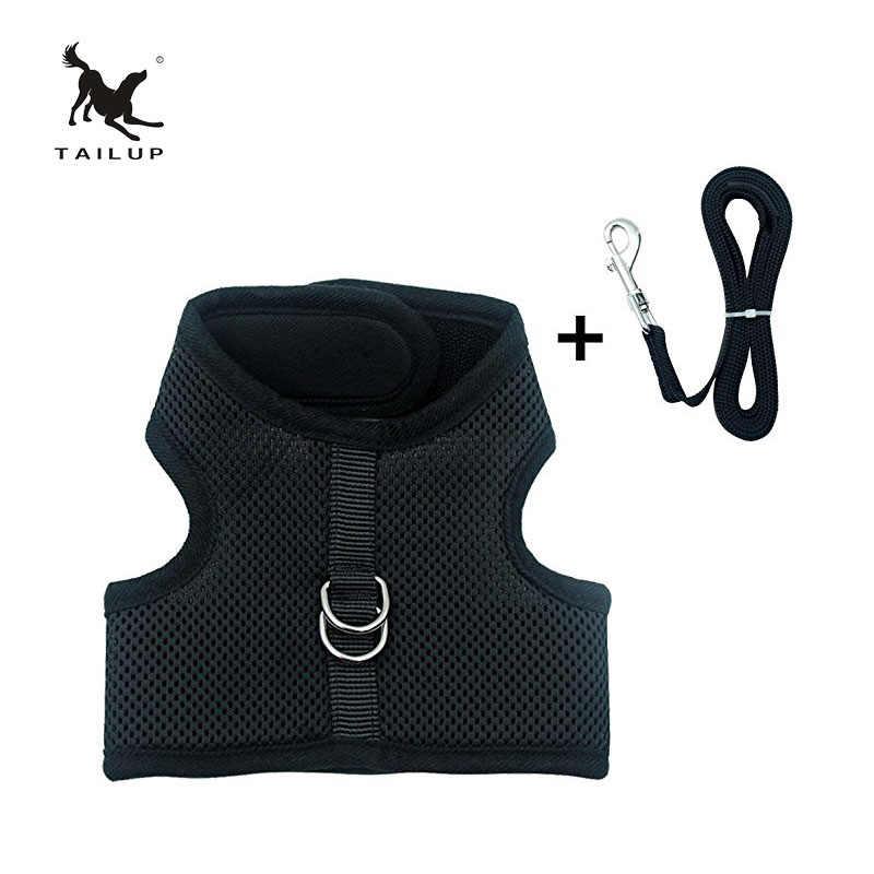 TAILUP mode petit chien confort gilet harnais laisse XS/S/M/L/XL/XXL maille respirante chiot Chihuahua vêtements