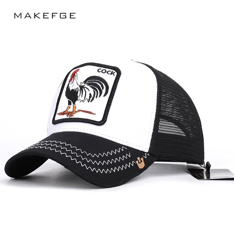 Animal cock embroidery   baseball     cap   high quality breathable size adjustable unisex streetwear outdoor shade men   baseball     cap