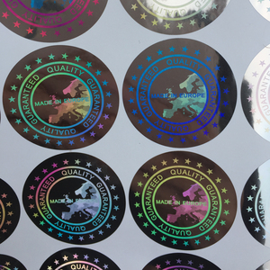Image 2 - Baseball caps stickers Label MADE IN EUROPE  Quality Guaranteed Hologram sticker  40mm large cloth stickers holographic stickers