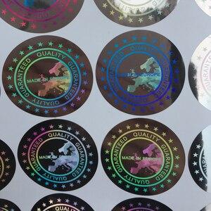 Image 2 - Étiquettes autocollantes de casquettes de Baseball fabriquées en EUROPE, étiquette holographique qualité garantie, tissu large de 40mm